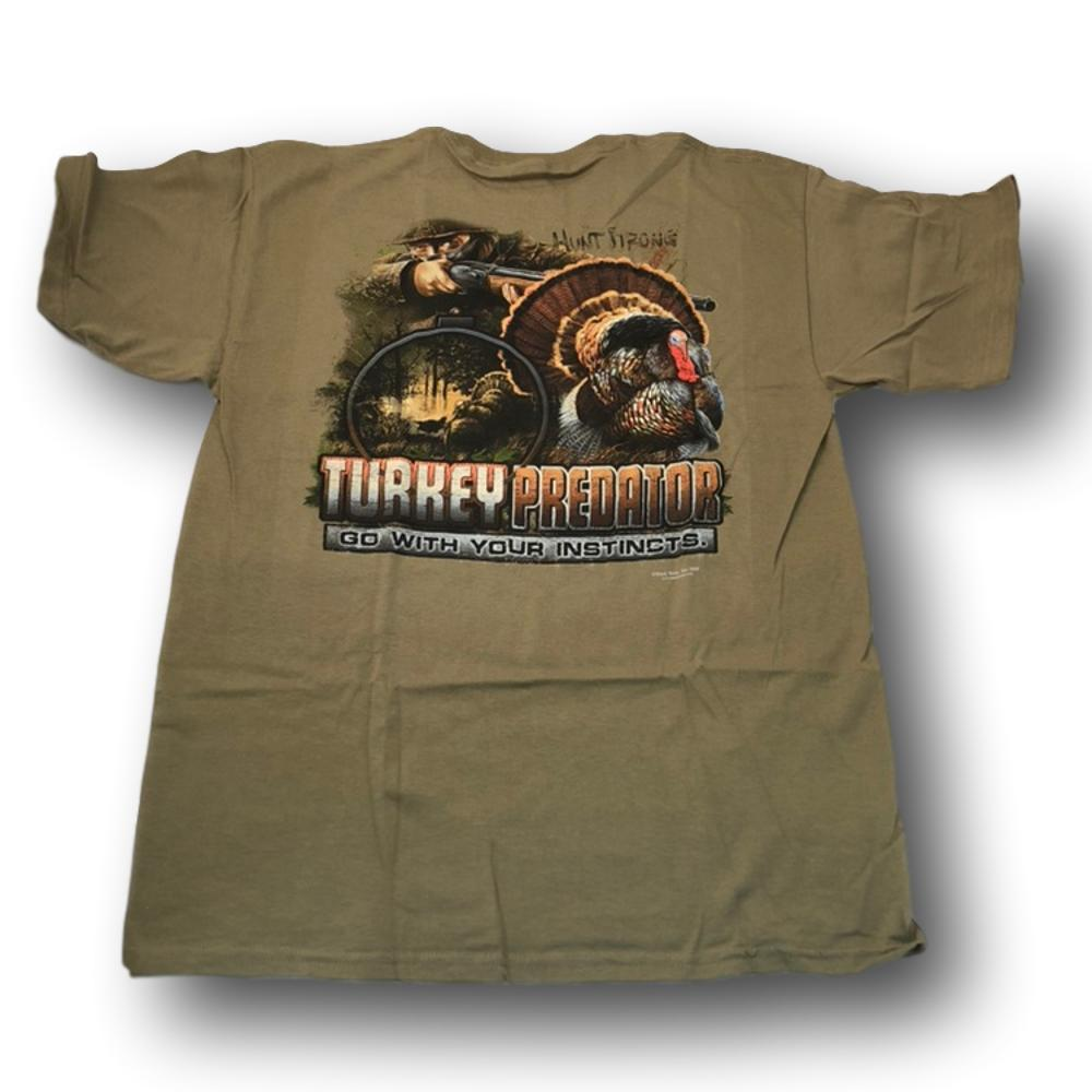 """Turkey Predator: Go With Your Instincts"" Hunter Tshirt - Adult L"