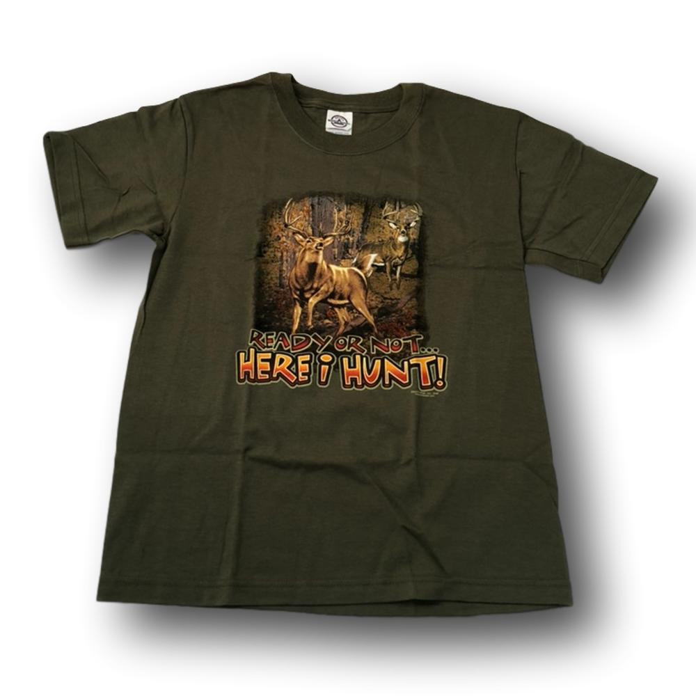 """Ready Or Not, Here I Hunt"" Little Hunter Kid's T-shirt - Youth M - Youth XS"