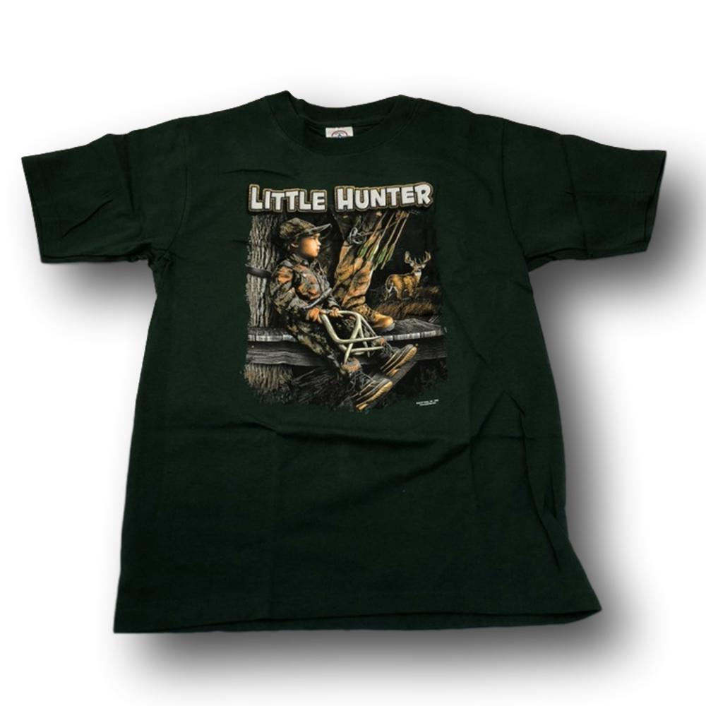 """Little Hunter"" Kid's T-shirt - Youth L - Youth M"