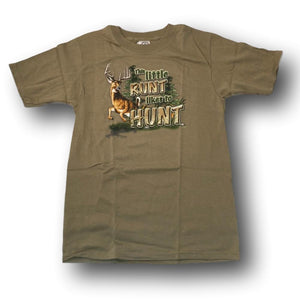 """This Little Runt Likes To Hunt"" Little Hunter T-shirt - Youth L - Youth S - Youth XS"