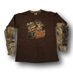 """One Day I'll Have My Own Hunting Show"" Little Hunter Camo Long Sleeve T-shirt - Youth M - Youth S -Youth XS"