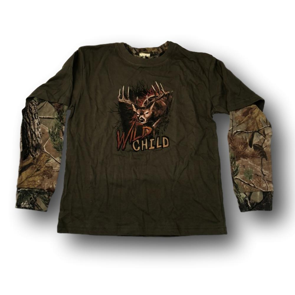 """Wild Child"" Little Hunter Long Sleeve T-shirt - Youth M"
