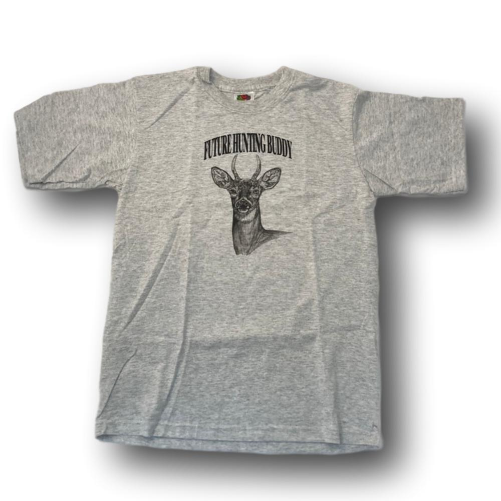 """Future Hunting Buddy"" Little Deer Hunter T-shirt - Youth XL - Youth L - Youth M"