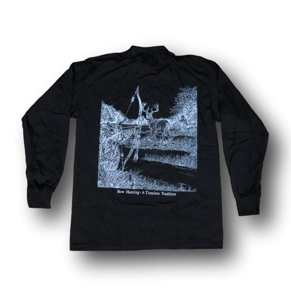 "Jim Tostrud's ""Traditional Bowhunter"" Long Sleeve Mock Turtleneck"