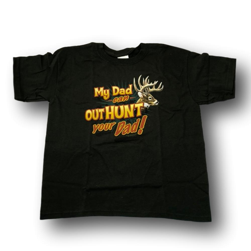 """My Dad Can Out Hunt Your Dad"" Little Hunter T-shirt - Youth S"