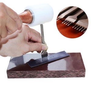 Prong Leather Craft Hole & Stitching Tool Set