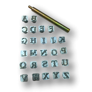 "Alphabet Leather Craft Stamp Tool Sets - 3/8"" - 1/2"" - 3/4"""