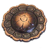Copper Flower Screw Back Concho - 1""