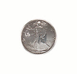 Liberty Front Half Dollar Screw Back Concho 1 1/8""