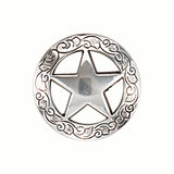 Star Screw Back Concho with Leaf Border - 1 1/2""