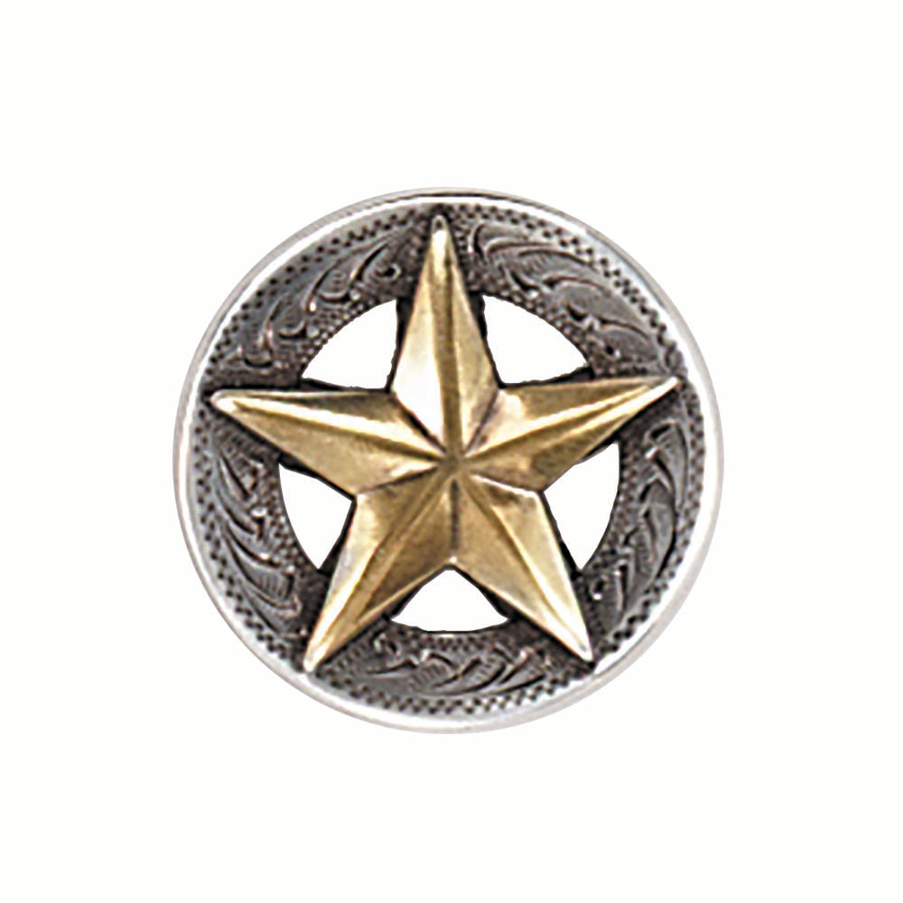 Gold Star Screw Back Concho - 1 1/4""
