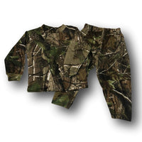 Little Hunter Camo Unisex Long Sleeve Two Piece Children's Pajamas Set - 2T - 4T