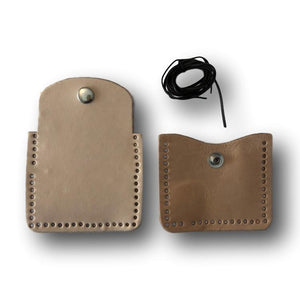 Make Your Own Tuck Away Leather Coin Purse Kit - Leather Craft Project for All Ages