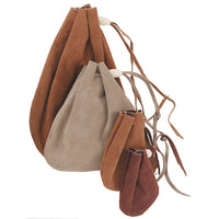 Make Your Own Drawstring Leather Pouch - DIY Drawstring Leather Bag Kit