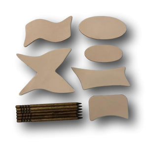 Stick Barrette Leather Craft Kit -Make Your Own Leather Barrettes With Stick - DIY Handmade Retro Hair Accessories