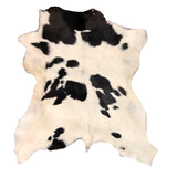 Hair on Hide Calf Leather Hides - Two Toned or Solid Colors - Black - Brown - White - Tan