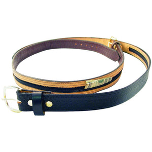 Genuine Leather Money Belt - Safe Travel Secret Pocket Belt