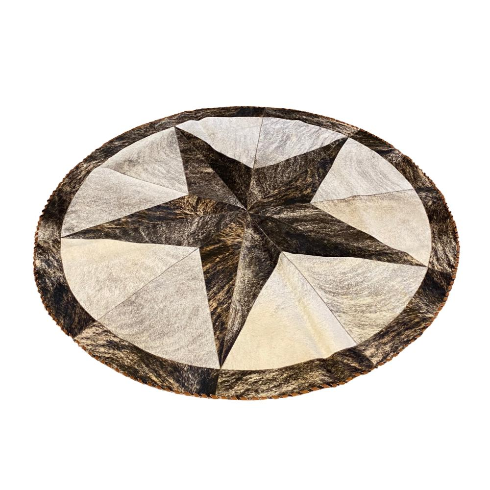 Hair on cowhide Accent Rug 5' Diameter