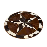 Hair on Cowhide Rugs 3.5' Diameter