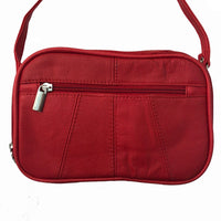 Red Soft Cowhide Leather Bag - Small Cross Body Red Leather Purse