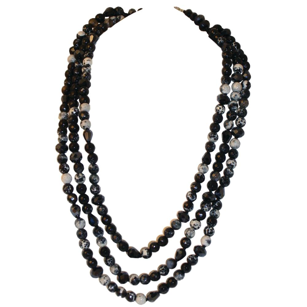 Semi Precious Stone Bead Necklaces for Women