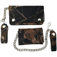 Camouflage Trucker Wallets with Chain - Trifold or Snap Closure