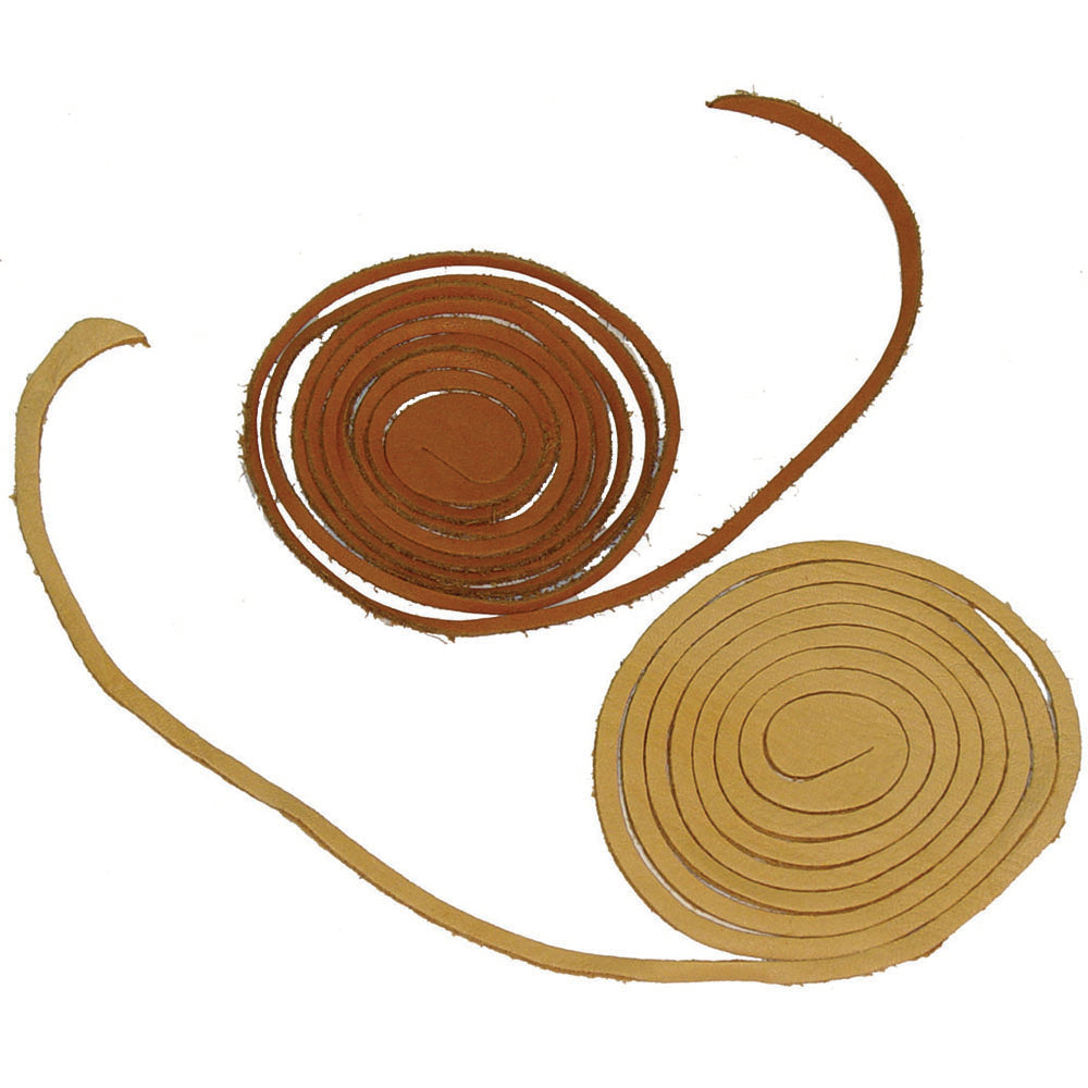 Spiral Leather Lace Cord - Deerskin - Suede - Grain Cowhide
