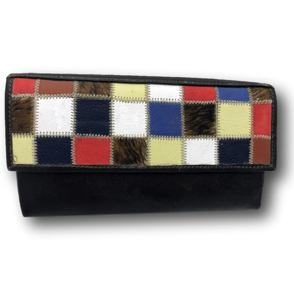 Unique South African Hair On Cowhide Leather Clutch Wallet for Women
