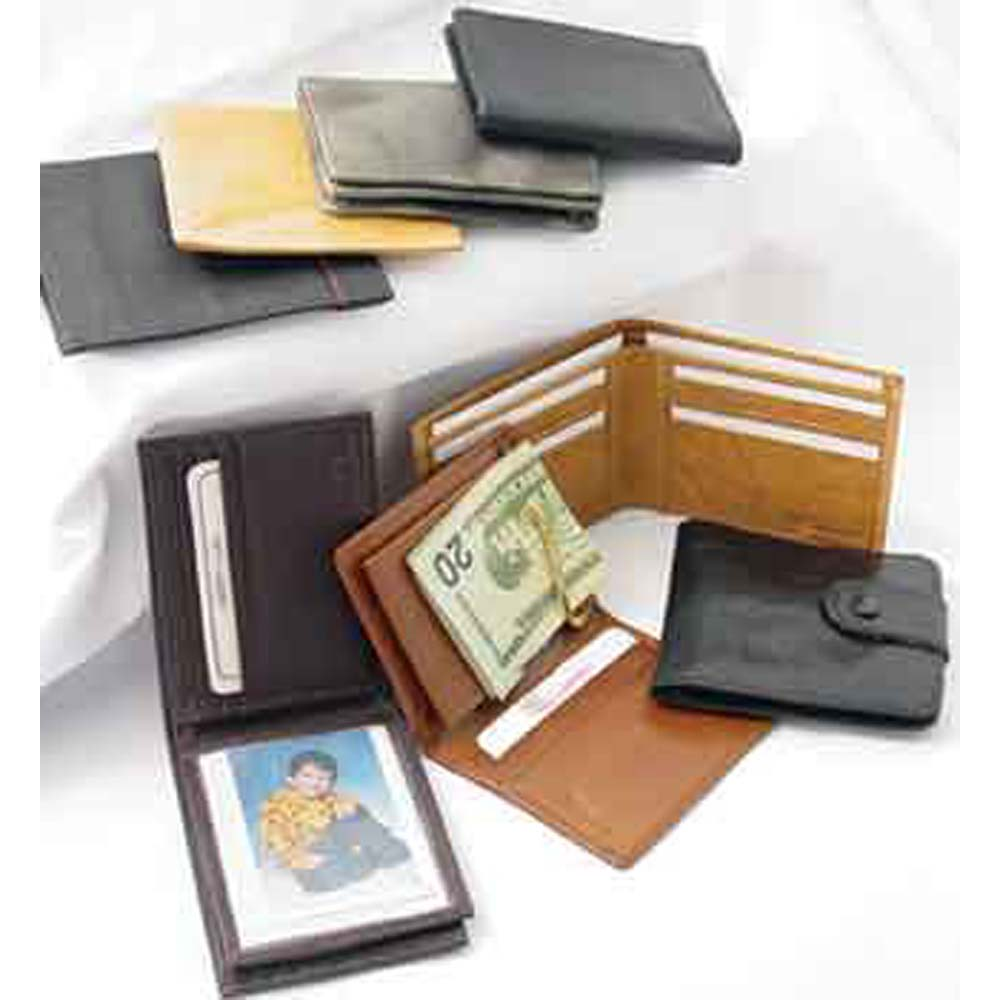 Assorted Leather Wallets for Men - 12 Pack