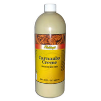 Fiebing's Carnuba Cream - Quart - Protective Wax Finish Cream for Smooth Leather