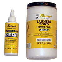 Fiebing's Leather Craft Cement Tanners Bond Leather Glue - 4 oz - Quart - Gallon