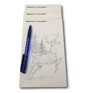 Ten Pointer Buck Whitetail Deer Memo Pads - 3 Pack of Notepads