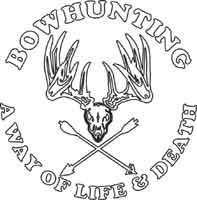 Sprotsman's White Decal - Bow Hunting - Deer Shack