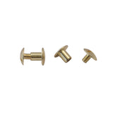 "1/4"" Post Solid Brass Chicago Screws - 100 Pack - Leather Craft Hardware"