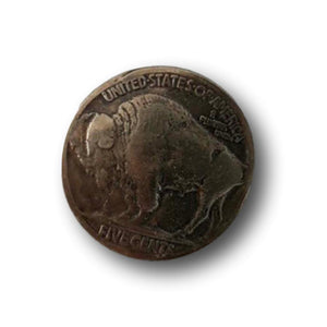 Domed Buffalo Nickel for Craft Accents - Snap - Rivet - Button