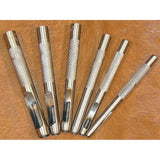 High Carbon Steel Drive Punch 6 Piece Leather Craft Tool Set