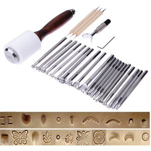 25 Piece Stamping and Carving Tool Set