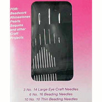 19 Piece High Carbon Steel Beading, Crafting, & Stitching Needles