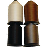 Nylon Thread for Sewing, Beading, Jewelry Making, Leather Crafts - White - Black - Brown - Gray - Light or Heavy Duty