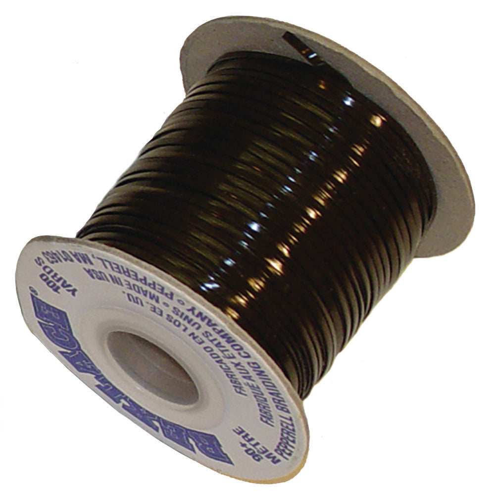 "Vinyl Lace Cord Spool - Black - Brown - 100 Yards x 3/32"" - 2500 Yards x 3/32"""