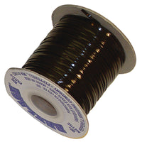 Vinyl Lace Cord Spool - Black - Brown - 100 Yards x 3/32