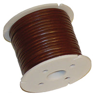 Super Strong Leather Grained Pyrolace Cord Spool - Black - Brown - 100 Yards x 3/32