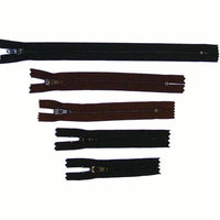 Nylon Zippers for Crafts - Black - Dark Brown - 9