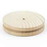 3 Piece Leather Craft Edge Slicker - Wooden Edge Burnisher Set - Round, Flat, Cake Shape