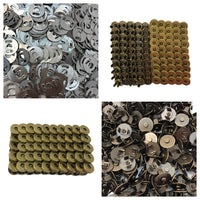 Magnetic Snap Fasteners - Set of 50 Snaps