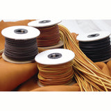 Black, Brown and Chieftain Latigo Lace 50 ft Spools