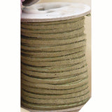 Soft Pigskin Suede Leather Lace - 50 ft Spool - Black, Brown, Tan, Purple, Green