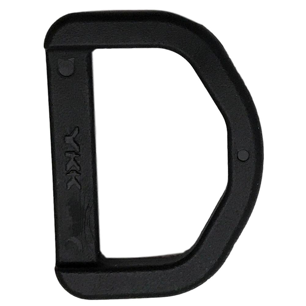 "1"" D-Ring - Black Nylon Hardware - 100 Pack"