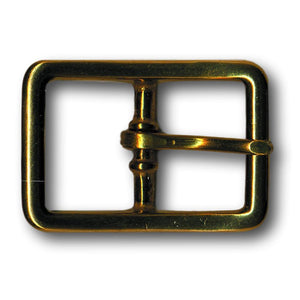 "Solid Brass Belt Buckle - 0.75"" - 1"" - 1.25"""