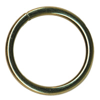 Brass Plated Welded O Ring - 2